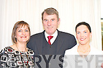 Judging the best dressed lady at the Fossa rowing club fashion show in Hotel Europe, Fossa on Thursday night were l-r Ann Cullinane TSB, Photographer Eugene Ferris and stylist Marilyn Murphy Killarney Hat Studio   Copyright Kerry's Eye 2008