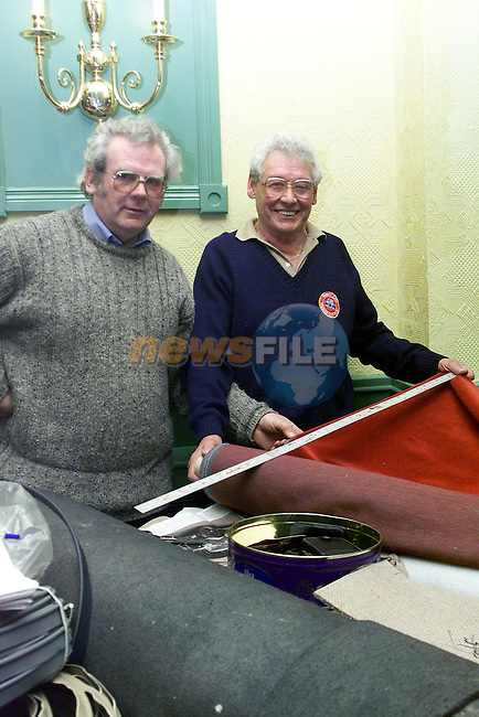 Noel Clinton, termonfeckin and Jim Hadcock from Dunleer at the Vintage Car and Toy Show in Bellingham Castle..Picture Paul Mohan Newswfile