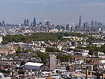 Aerial view across London. The City of London is a city and county that contains the historic centre and central business district of London.