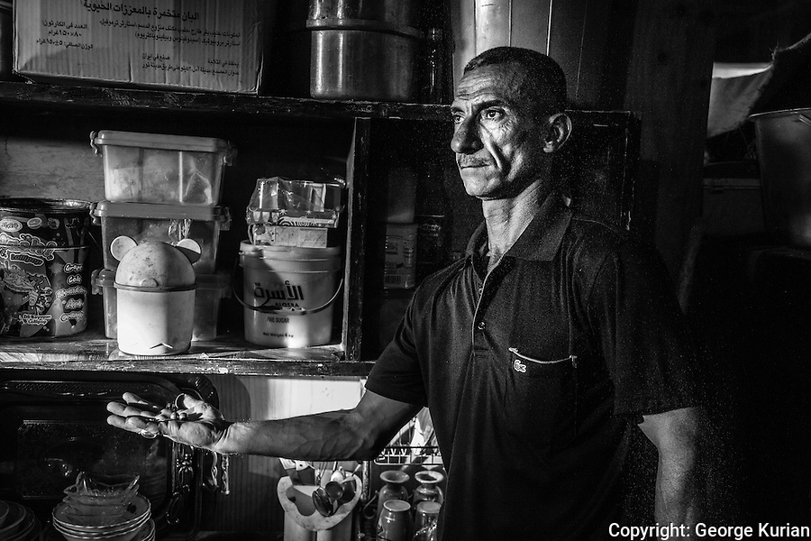 Saad Abd Al Hussein's nineteen year old son was killed in an IED explosion in Baghdad 10 weeks ago. Saad still keeps the ball bearings that were found in his son's body.<br /> At 42 he and his brother have volunteered to fight for the Iraqi army to avenge their loss.
