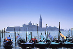 Europe, ITA, Italien, Venetien , Venice, Gondulas, Piazza San Marco, in the background San Giorgio Maggiore church.....[ For each utilisation of my images my General Terms and Conditions are mandatory. Usage only against use message and proof. Download of my General Terms and Conditions under http://www.image-box.com or ask for sending. A clearance before usage is necessary...Material is subject to royalties. Each utilisation of my images is subject to a fee in accordance to the present valid MFM-List...Contact | archive@image-box.com | www.image-box.com ]