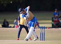 J Evans plays through square leg during Upminster CC vs Essex CCC, Benefit Match Cricket at Upminster Park on 8th September 2019