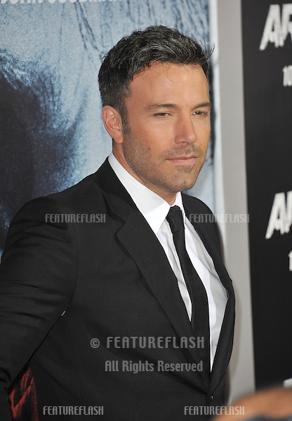 """Ben Affleck at the Los Angeles premiere of his movie """"Argo"""" at the Samuel Goldwyn Theatre, Beverly Hills..October 4, 2012  Beverly Hills, CA.Picture: Paul Smith / Featureflash"""