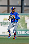 28 February 2019: New York Mets top prospect infielder Andres Gimenez in action during the 8th inning of a Spring Training game against the St. Louis Cardinals at Roger Dean Stadium in Jupiter, Florida. The Mets defeated the Cardinals 3-2 in Grapefruit League play. Mandatory Credit: Ed Wolfstein Photo *** RAW (NEF) Image File Available ***