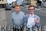 John Ryle standing with his father Dermot. As John is following in his dads footsteps as a bus driver, when John qualified last week.