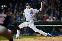 Chicago Cubs pitcher Mike Montgomery (38) delivers a pitch in the sixth inning during Game 4 of the Major League Baseball World Series against the Cleveland Indians on October 29, 2016 at Wrigley Field in Chicago, Illinois.  (Mike Janes/Four Seam Images)