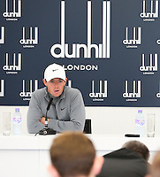 Ryder Cup naturally the focus of media attention for Rory McIlroy (NIR) during the Media Interviews before the 2014 Alfred Dunhill Links Championship, The Old Course, St Andrews, Fife, Scotland. Picture:  David Lloyd / www.golffile.ie
