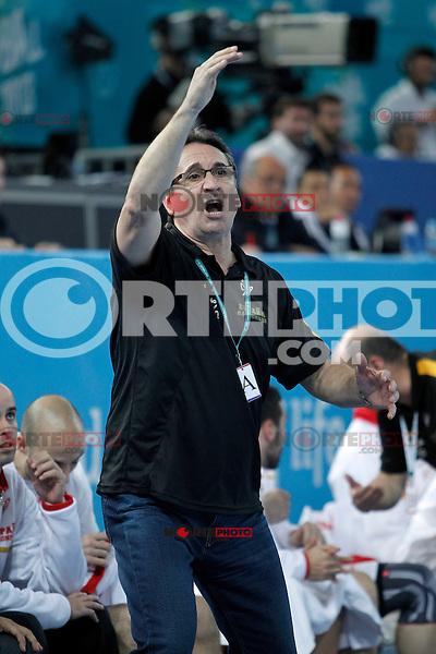 Spain's coach Valero Rivera during 23rd Men's Handball World Championship preliminary round match Hungary v Spain.January 17,2013. (ALTERPHOTOS/Acero)