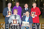 PIONEERS: Pioneers who were presented with their gold pioneer pins and medal on Saturday night during 7 O'clock mass in St John's Church, Tralee by Fr Kieran O'Brien, Front l-r: Phylis McLoughlin (gold) and Colm Brosnan (medal), Back l-r: Michael Moran (gold),Fr Kieran O'Brien, Kevin Geary and Mary Donnelly (gold).................................. ....