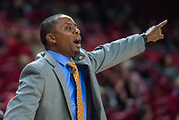 NWA Democrat-Gazette/BEN GOFF @NWABENGOFF <br /> J.T. Burton, Tusculum head coach, in the first half vs Arkansas Friday, Oct. 26, 2018, during an exhibition game in Bud Walton Arena in Fayetteville.