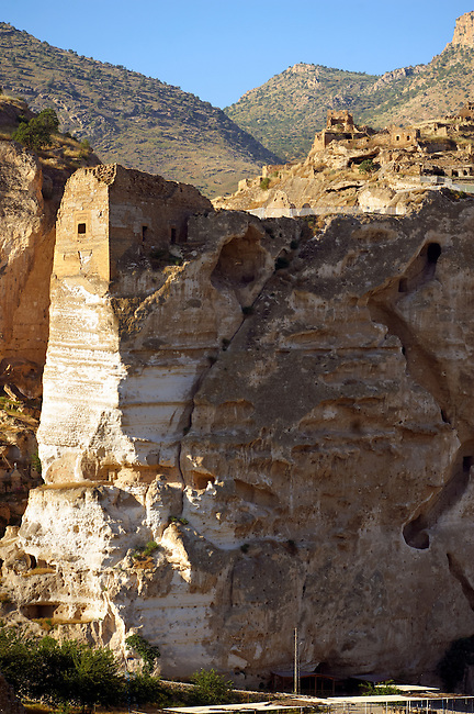 Ruins of the Ayyubids Small Palace in the citadel of ancient Hasankeyf overlooking the Tigris River. Turkey 5