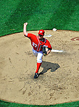 28 May 2011: Washington Nationals starting pitcher Jordan Zimmermann on the mound against the San Diego Padres at Nationals Park in Washington, District of Columbia. The Padres defeated the Nationals 2-1 to even their 3-game series. Mandatory Credit: Ed Wolfstein Photo
