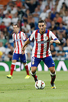 Koke of Atletico de Madrid during La Liga match between Real Madrid and Atletico de Madrid at Santiago Bernabeu stadium in Madrid, Spain. September 13, 2014. (ALTERPHOTOS/Caro Marin)