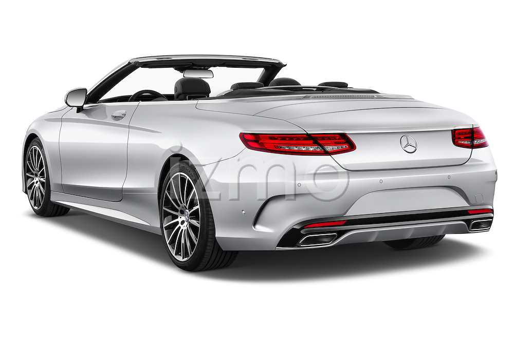 Car pictures of rear three quarter view of 2017 Mercedes Benz S-Class AMG-Line 2 Door Convertible Angular Rear