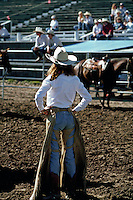 Cowgirl, Livingston rodeo, Montana