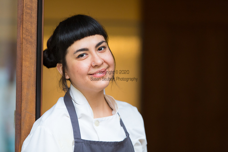 Geovanna Salas, pastry chef at Castagna, a restaurant in Southeast Portland, OR