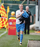 Gary Mackay-Steven at Firhill pre-match on Saturday afternoon