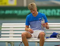 Rotterdam, The Netherlands, March 19, 2016,  TV Victoria, NOJK 14/18 years, Len Schouten (NED)<br /> Photo: Tennisimages/Henk Koster