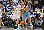 06 February 2012: Duke's Haley Peters (33) and North Carolina's Krista Gross (21). The Duke University Blue Devils defeated the University of North Carolina Tar Heels 96-56 at Cameron Indoor Stadium in Durham, North Carolina in an NCAA Division I Women's basketball game.