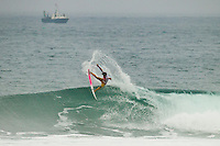 """LA GRAVIERE, Hossegor/France (Wednesday, October 12, 2011) – Gabriel Medina (BRA), 17, newcomer to the elite ASP Top 34 after September's rotation, has secured his inaugural ASP World Title victory today, taking out the Quiksilver Pro France over Julian Wilson (AUS), 22, in high-performance three-to-four foot (1 metre) waves at La Graviere...Stop No. 8 of 11 on the 2011 ASP World Title season, the Quiksilver Pro France culminated today in exciting fashion as the next generation of ASP World Title contenders announced their intentions on the world stage...Medina, in only second event as an ASP Top 34 member, cut a swathe through the world's best surfers, securing three of the top five highest single-wave scores of the event en route to his emotional win...""""This is the best feeling ever,"""" Medina said. """"I beat some great guys on the way to Final and I'm very stoked now. I want to thank all my friends and family and god for their support. It has been an amazing week for me. Just two years ago, I was here competing in the King of the Groms and I won that event and now I'm here in the main event and I've won it. It doesn't seem real."""".Photo: joliphotos.com"""