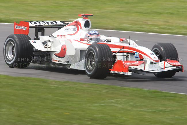 MONTREAL - JUNE 23: Rubens Barrichello of Honda Racing on the track during the second practice session on the Friday prior to race weekend of the Canadian F1 Grand Prix at the Circuit Gilles-Villeneuve June 23, 2006 in Montreal, Canada.