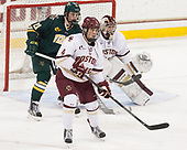 Mario Puskarich (UVM - 21), Michael Kim (BC - 4) - The visiting University of Vermont Catamounts tied the Boston College Eagles 2-2 on Saturday, February 18, 2017, Boston College's senior night at Kelley Rink in Conte Forum in Chestnut Hill, Massachusetts.Vermont and BC tied 2-2 on Saturday, February 18, 2017, Boston College's senior night at Kelley Rink in Conte Forum in Chestnut Hill, Massachusetts.