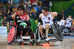 Daisuke Ikezaki (JPN), <br /> SEPTEMBER 16, 2016 - WheelChair Rugby : <br /> Preliminary Round Group B match Japan 56-57 USA <br /> at Carioca Arena 1<br /> during the Rio 2016 Paralympic Games in Rio de Janeiro, Brazil.<br /> (Photo by AFLO SPORT)
