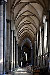 South Nave Aisle in Salisbury Cathedral, Salisbury, England, UK