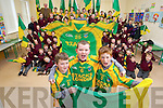 David Allen, Gavin Leen and Rory McAulliffe pupils at Scoil Mhuire de Lourdes Boys School in Lixnaw getting ready for the Intermediate All Ireland Final between Finuge and Cookstown which takes place at Croke Park on Saturday evening.
