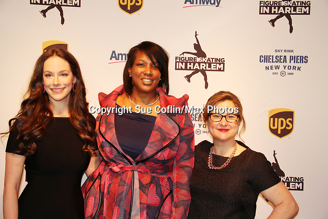 Alissandra Aronow & Lori Ward & Sharon Cohen - Figure Skating in Harlem presents Champions in Life Benefit Gala on April 29, 2019 at Chelsea Pier, New York City, New York - (Photo by Sue Coflin/Max Photos)