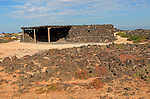 Stone farm building near Majanicho on north coast of Fuerteventura, Canary Islands, Spain