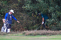 Andy Sulivan (ENG) in the rough on the 2nd during Round 3 of the Sky Sports British Masters at Walton Heath Golf Club in Tadworth, Surrey, England on Saturday 13th Oct 2018.<br /> Picture:  Thos Caffrey | Golffile