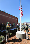 The Carson City Sheriff's Honor Guard dedicates a new flag pole during a ceremony at the Carson City Sheriff's Office in Carson City, Nev., on Wednesday, April 24, 2013. .Photo by Cathleen Allison/Nevada Photo Source