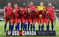 USMNT v Canada, November 15, 2019