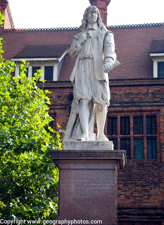 Statue of writer Andrew Marvell, Hull, Yorkshire, England