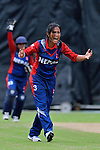 Rubina Chhetry Belbashi of Nepal reacts during the ICC 2016 Women's World Cup Asia Qualifier match between Hong Kong vs Nepal on 09 October 2016 at the Tin Kwong Road Cricket Recreation Ground in Hong Kong, China. Photo by Marcio Machado / Power Sport Images