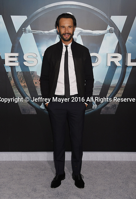 HOLLYWOOD, CA - SEPTEMBER 28: Actor Rodrigo Santoro attends the premiere of HBO's 'Westworld' at TCL Chinese Theater on September 28, 2016 in Hollywood, California.