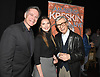 Frank Dicopoulos, Olivia Dicopoulos and Kreskin attend &quot;The Amazing Kreskin&quot; Off Broadwy show on April 11, 2018 at the Lion Theatre in New York City. <br /> <br /> photo by Robin Platzer/Twin Images<br />  <br /> phone number 212-935-0770