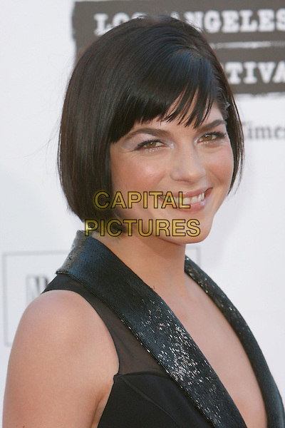 "SELMA BLAIR.""Hell Boy II: The Golden Army"" World Premiere - Los Angeles Film Festival Closing Night Film held at Mann Village Theater, Westwood, California, USA,.28 June 2008..portrait headshot black fringe.CAP/ADM/`CH.©Charles Harris/Admedia/Capital PIctures"