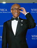 Reverend Al Sharpton adjusts his glasses as he arrives for the 2018 White House Correspondents Association Annual Dinner at the Washington Hilton Hotel on Saturday, April 28, 2018.<br /> Credit: Ron Sachs / CNP<br /> <br /> (RESTRICTION: NO New York or New Jersey Newspapers or newspapers within a 75 mile radius of New York City)