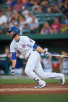 South Bend Cubs third baseman Matt Rose (17) at bat during a game against the Burlington Bees on July 22, 2016 at Four Winds Field in South Bend, Indiana.  South Bend defeated Burlington 4-3.  (Mike Janes/Four Seam Images)