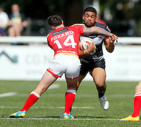 Mark Ioane in action for London during the Kingstone Press Championship game between London Broncos and Sheffield Eagles at Ealing Trailfinders, Ealing, on Sun July 9,2016