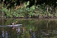 Kayaking on Lady Bird Lake in Zilker Park, Austin, Texas