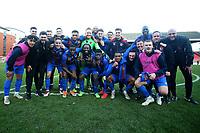 Maldon players celebrate their win during Leyton Orient vs Maldon & Tiptree, Emirates FA Cup Football at The Breyer Group Stadium on 10th November 2019