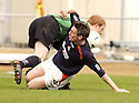 02/04/2005         Copyright Pic : James Stewart.File Name : jspa15_falkirk_v_st_johnstone.DAYRLL DUFFY GOES IN LATE ON CRAIG SAMSON........Payments to :.James Stewart Photo Agency 19 Carronlea Drive, Falkirk. FK2 8DN      Vat Reg No. 607 6932 25.Office     : +44 (0)1324 570906     .Mobile   : +44 (0)7721 416997.Fax         : +44 (0)1324 570906.E-mail  :  jim@jspa.co.uk.If you require further information then contact Jim Stewart on any of the numbers above.........A