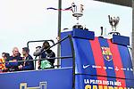 League Santander 2017/2018.<br /> Rua de Campions FC Barcelona.