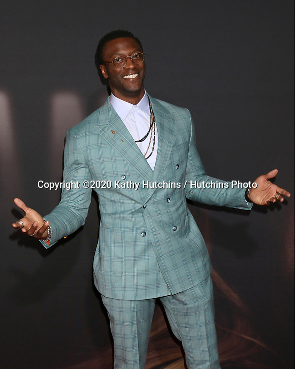 """LOS ANGELES - FEB 24:  Aldis Hodge at the """"The Invisible Man"""" Premiere at the TCL Chinese Theater IMAX on February 24, 2020 in Los Angeles, CA"""