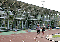 04 MAY 2005 - LOUGHBOROUGH, UK - The High Performance Athletics Centre (HiPAC) at Loughborough University. (PHOTO (C) NIGEL FARROW)