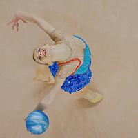 Caroline Weber (AUT) performs with the ball during the final of the 2nd Garantiqa Rythmic Gymnastics World Cup held in Debrecen, Hungary. Sunday, 07. March 2010. ATTILA VOLGYI