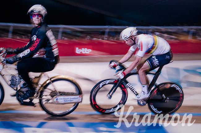 Madison World Champion Roger Kluge (DEU/Lotto-Soudal) behind the derny<br /> <br /> Derny Race<br /> zesdaagse Gent 2019 - 2019 Ghent 6 (BEL)<br /> day 3<br /> <br /> ©kramon